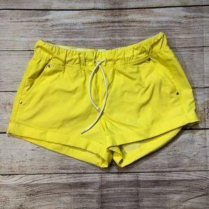 Lululemon yellow shorts